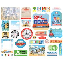 Carta Bella Ephemera Cardstock Die-Cuts - Cartopia Icons
