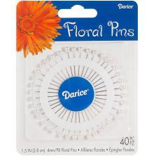Darice Corsage Pins 40/Pkg - Pearl White