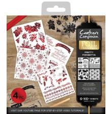 Crafters Companion Foil Transfers - Pretty Poinsettia