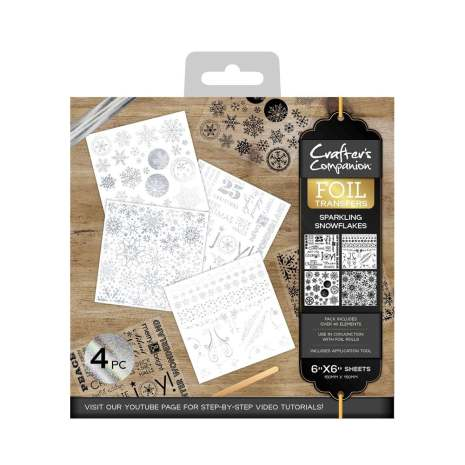 Crafters Companion Foil Transfers - Sparkling Snowflakes