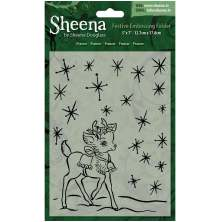 Sheena Douglass Christmas 5x7 Embossing Folder - Prancer UTGÅENDE