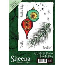 Sheena Douglass A6 Unmounted Rubber Stamp - Bauble Bling