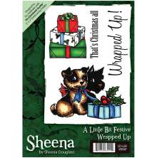 Sheena Douglass A6 Unmounted Rubber Stamp - Wrapped Up