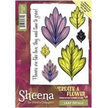 Sheena Douglass Create a Flower A6 Rubber Stamp - Leaf Petals UTGÅENDE