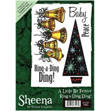Sheena Douglass A6 Unmounted Rubber Stamp - Ring-a-Ding-Ding UTGÅENDE