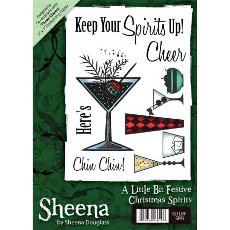 Sheena Douglass  A6 Unmounted Rubber Stamp - Christmas Spirit
