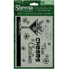 Sheena Douglass Christmas 5x7 Embossing Folder - Three Cheers UTGÅENDE