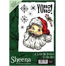 Sheena Douglass A6 Unmounted Rubber Stamp - Yo Ho Ho UTGÅENDE