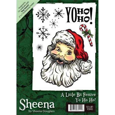 Sheena Douglass A6 Unmounted Rubber Stamp - Yo Ho Ho UTGÅENDE