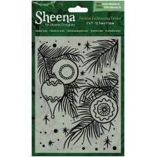 Sheena Douglass Christmas 5x7 Embossing Folder - Baubles Baby