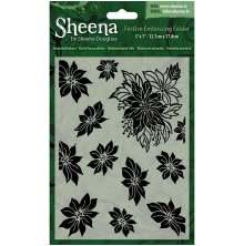 Sheena Douglass Christmas 5x7 Embossing Folder - Poinsettia Plethora UTGÅENDE