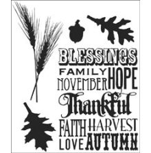 Tim Holtz Cling Stamps 7X8.5 - Thankful Silhouettes