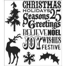 Tim Holtz Cling Stamps 7X8.5 - Seasons Silhouettes