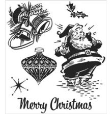 Tim Holtz Cling Stamps 7X8.5 - Christmas Memories