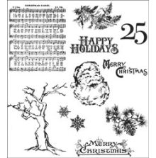 Tim Holtz Cling Stamps 7X8.5 - Mini Holidays 3