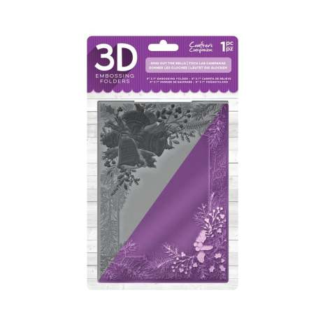 Crafters Companion 5x7 3D Embossing Folder - Ring out the Bells