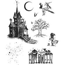 Tim Holtz Cling Stamps 7X8.5 - Haunted House
