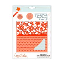 Tonic Studios Essentials Idyllics Embossingfolder & Die Set - Flowering Waves 1597E