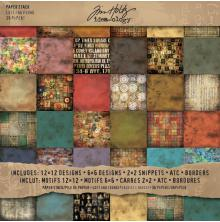 Tim Holtz Idea-Ology Paper Pad 12X12 36/Pkg - Lost & Found