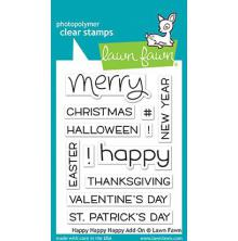 Lawn Fawn Clear Stamps 3X4 - Happy Happy Happy Add On