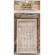 Tim Holtz Idea-0logy Bookboard Baseboards 4/Pkg - Salvaged