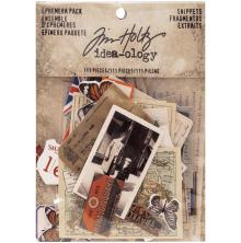 Tim Holtz Idea-0logy Ephemera Pack 111/Pkg - Snippets Tiny Die-Cuts