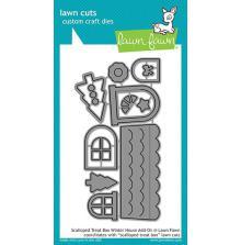 Lawn Fawn Custom Craft Die - Scalloped Treat Box Winter House Add On