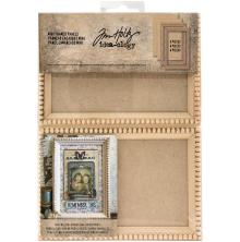 Tim Holtz Idea-0logy Mini Wooden Framed Panels 4/Pkg - Natural