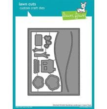 Lawn Fawn Custom Craft Die - Stitched Hillside Backdrop Landscape