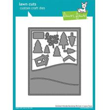 Lawn Fawn Custom Craft Die - Stitched Hillside Backdrop Portrait