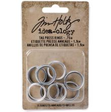 Tim Holtz Idea-0logy Tag Press Rings 1.9cm 15/Pkg