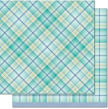 Lawn Fawn Perfectly Plaid Chill Cardstock 12X12 - Keep Calm