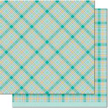 Lawn Fawn Perfectly Plaid Chill Cardstock 12X12 - Peace Out
