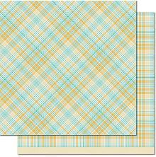 Lawn Fawn Perfectly Plaid Chill Cardstock 12X12 - Vaycay