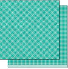 Lawn Fawn Perfectly Plaid Chill Cardstock 12X12 - Om