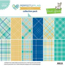 Lawn Fawn Collection Pack 12X12 12/Pkg - Perfectly Plaid Chill