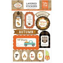 Echo Park Layered Stickers - A Perfect Autumn