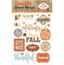 Echo Park Adhesive Enamel Shapes - A Perfect Autumn Words & Phrases