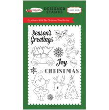 Carta Bella Stamps 4X6 - Christmas Time