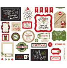 Echo Park Ephemera Cardstock Die-Cuts - A Perfect Christmas