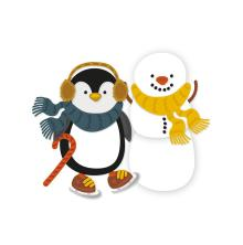 Tonic Studios Essentials Christmas Buildables - Percy Penguin & Stan Snowman 1753E