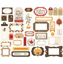 Carta Bella Ephemera Cardstock Die-Cuts - Hello Fall Frames & Tags