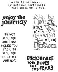Tim Holtz Cling Stamps 7X8.5 - Just Thoughts