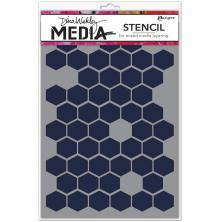 Dina Wakley Media Stencils 9X6 - Honeycomb