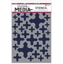 Dina Wakley Media Stencils 9X6 - Medieval Crosses