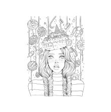 Prima Princesses Cling Stamp 5X7 - Sweet Tooth