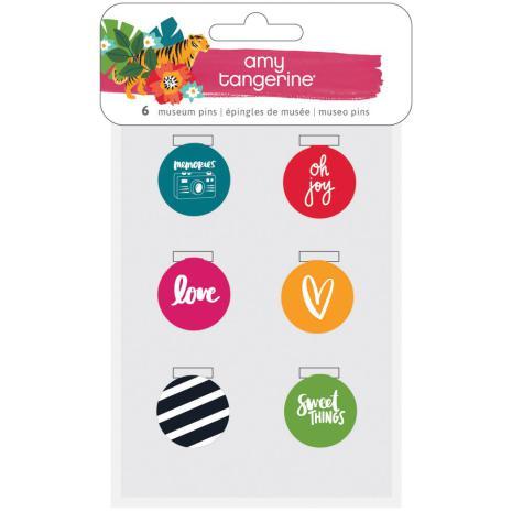 Amy Tangerine Museum Pins 6/Pkg - Hustle & Heart