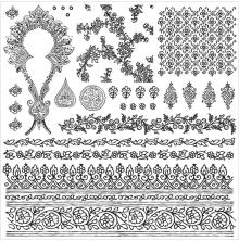 Prima Iron Orchid Designs Decor Clear Stamps 12X12 - Bohemian