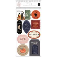 Pink Paislee Reuseable Vinyl Cling Labels  - Spellcast