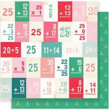 Crate Paper Fa La La Double-Sided Cardstock 12X12 - December